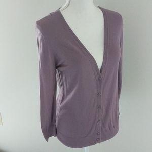LOFT • Light Purple Button Up Cardigan